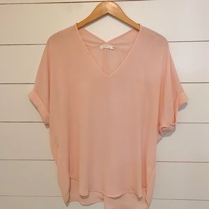 blush color boutique top